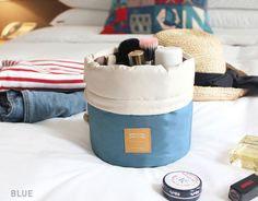 Travel Make Up Barrel Bag – Bee and Buzz