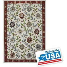 Mohawk Home Casual Floral Woven Olefin Rug, Biscuit
