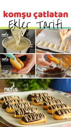 Pie Recipes, Dessert Recipes, Desserts, Pastry Cake, Eclairs, Chocolate Cake, Tart, Food And Drink, Baking