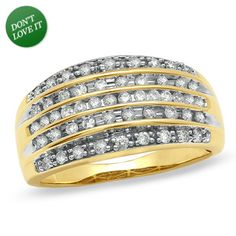 I've tagged a product on Zales: 1/2 CT. T.W. Diamond Five Row Anniversary Band in 10K Gold