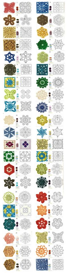 50+ Crochet Motif Diagrams