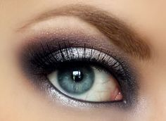 Emma Stone inspired silver smoky eye make up #makeup #eyes #eyeshadow