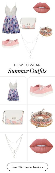 summer outfit by brittxtk on Polyvore featuring Ally Fashion, Vans, Candies, Lime Crime, Aéropostale and Charlotte Russe