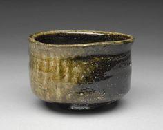 Artist: Isezaki Jun, Title: Hikidasi Black Tea Bowl  - click on image to enlarge