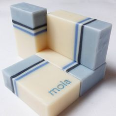 """Monday Blues"", cold proccess kefir soap, by moia.soap"