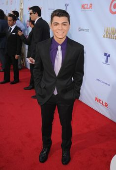 Adam Irigoyen on the red carpet at the ALMA awards!