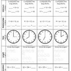 1st grade weekly homework weeks 21-30. You make a copy for each student. Each page is just enough homework for the week. Students do every box in t...