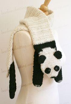 Digital PDF Crochet Pattern for Panda Bear by BeesKneesKnitting