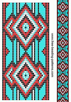 free beading patterns | free-beading-pattern-guitar-strap-turquoise-diamonds
