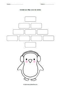 Schrijf een Elfje pinguïn JPG