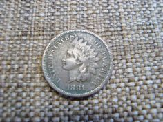 1881 indian head penny VF by DrewsCollectibles on Etsy, $8.59