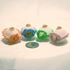 Sugar eggs that house a tiny bunny, duck or chick