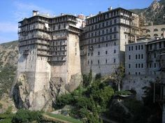 """See 118 photos and 4 tips from 249 visitors to Mount Athos. """"The Holy Mountain is the entire third, eastern peninsula of Halkidiki. Amazing Places On Earth, Beautiful Places To Visit, Places To See, Beautiful Things, Fete Votive, Saint Simon, The Holy Mountain, Saint Georges, 14th Century"""