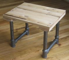 Reclaimed wooden stool
