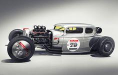 Milton Motor Coupe - California Racing by Mikael Lugnegård, via Behance