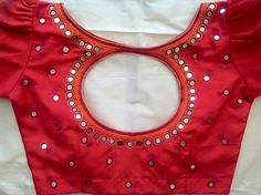 Mirror Work Saree Blouse, Mirror Work Blouse Design, Saree Blouse Neck Designs, Fancy Blouse Designs, Maggam Work Designs, Designer Blouse Patterns, Kurti, Sarees, Embroidery Designs