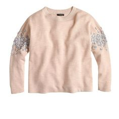 Sequin floral sweater