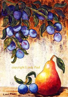 Still Life Art Pictures of Fruits, Pear - Fruit Art Prints