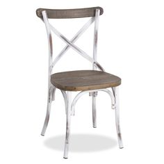 Inspirado en las antiguas sillas de bares y restaurantes clásicos. Silla deacero lacado con efecto desgastado. Respaldo y asiento en…