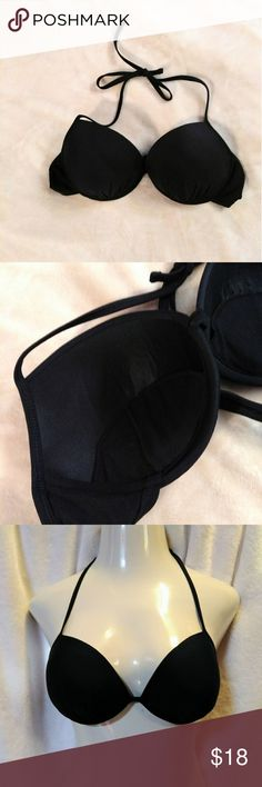 5 for $25 💖💜 Xhilaration XL PushUp Padded Bikini 💜 Xhilaration XL PushUp Padded Bikini Top Black Fully padded, molded cups. Ties around neck. Clasp in back.  Excellent condition. Xhilaration Swim Bikinis