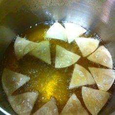 Homemade tortilla chips!!