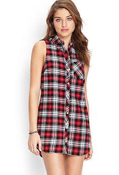 Plaid Shirt Dress   FOREVER21 - 2000122421