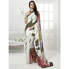 Crepe Multicolour Printed Saree - VS39227003B