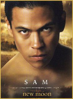 Sam Uley (Chaske Spencer) - b.1985 Alpha of the Quileute wolf pack. Imprints on Emily.