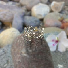 sterling silver Life Goes On ring