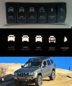 Omlets custom switches Jeep Cars, Jeep Truck, 2005 Jeep Grand Cherokee, Jeep Wk, Jeep Vehicles, Jeep Rubicon, Jeep Stuff, Jeep Life, Offroad