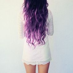 Purple ombre hair...wish I was this brave
