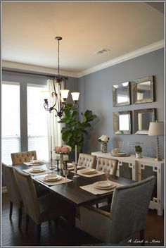 My dining room has evolved entirely since we first moved in and started with a overly bright blue paint. I can honestly say that I am fin...