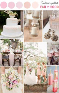 Blush colour palette ... Wedding ideas for brides, grooms, parents & planners ... https://itunes.apple.com/us/app/the-gold-wedding-planner/id498112599?ls=1=8  ... The Gold Wedding Planner iPhone App.