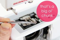How to clean/oil your sewing machine.  Good details!