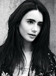 Great Lily Collins B&W