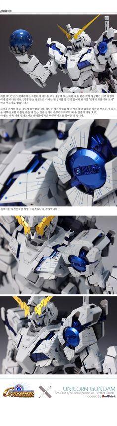 "Custom Build: PG 1/60 RX-0 Unicorn Gundam ""SD Gundam G Frontier Style"" - Gundam Kits Collection News and Reviews"
