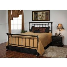 @Overstock - Upgrade your bedroom decor with a grand-scale sleigh bedBedroom furniture is festooned with multiple castings, ornate top-rails and elegant curved postsBed has a lovely, hand-applied multistep finish called 'Dark Marble'http://www.overstock.com/Home-Garden/Acacia-King-size-Bed/4233665/product.html?CID=214117 $499.99