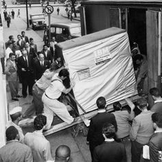 5 MB harddrive being shipped by IBM 1956. by historyphotographed