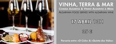 Wine Pairing Lunch at Quinta dos Vales - 17th April. Indulge in a lunch of Algarvean food and Algarvean wine.  http://www.mydestination.com/algarve/events/73685486/wine-pairing-lunch-at-quinta-dos-vales-17-april-2016