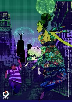 Michiko and Hatchin Vol. Michiko & Hatchin, Black Characters, Anime Japan, Afro Art, Beautiful Anime Girl, Black Women Art, Anime Artwork, Anime Comics, Manga