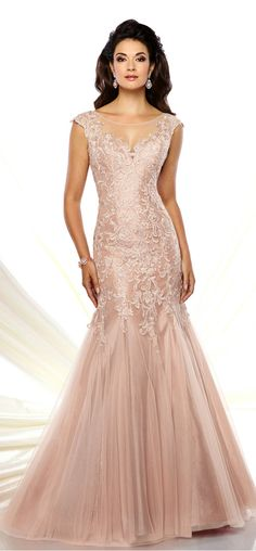 Marvelous Tulle Scoop Neckline Mermaid Mother of the Bride Dresses With Beaded Lace Appliques More