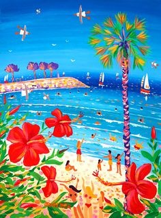 Original Paintings of France, Provence, Italy from British Artists John Dyer, Joanne Short, Ted Dyer. Monaco, John Dyer, Art Gallery, Galerie D'art, Bolivia, Good Mood, Fireworks, Hibiscus, Provence