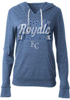Kansas City Royals Womens Blue Tri-Blend Hoodie