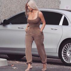 """570.6k Likes, 3,836 Comments - Kim Kardashian West (@kimkardashian) on Instagram: """"I'm addicted to sweats! #yeezy"""""""