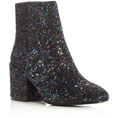 Ash Erika Glitter Block Heel Booties ($240) ❤ liked on Polyvore featuring shoes, boots, ankle booties, ash booties, block heel boots, sparkle boots, glitter boots and sparkly booties