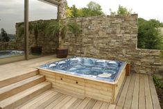 Azur Systems Trading has formed a dedicated pools and spas division - Projects And Tenders Hot Tub Pergola, Hot Tub Backyard, Jacuzzi Outdoor, Outdoor Spa, Pergola Designs, Deck Design, Whirlpool Pergola, Hot Tub Surround, Cabin Decks