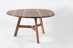 PEBBLE collection - table in solid WALNUT execution