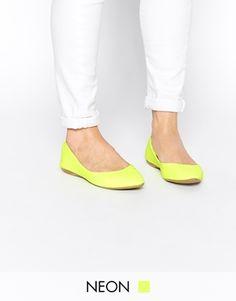 Agrandir New Look - Kurrency - Ballerines plates - Vert citron