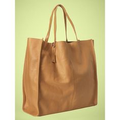 Gap Leather Travel Tote ($125) found on Polyvore