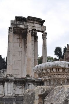 Temple of Vesta, Roman Forum. The temple was the storehouse for the legal wills and documents of Roman Senators and cult objects such as the Palladium. The Palladium was a statue of Athena (Roman Minerva) believed to have been brought by Aeneas from Troy.